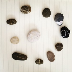 opstelling met stenen